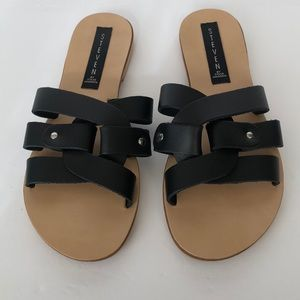 Steve Madden Grime Black Sandals